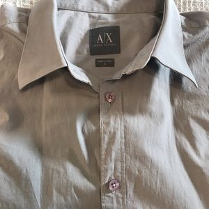 ARMANI ExChance Size S Shirt gray  shorts sleeves